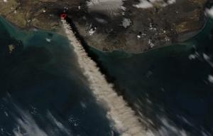 Eyjafjallajokull ash cloud - Source: NASA