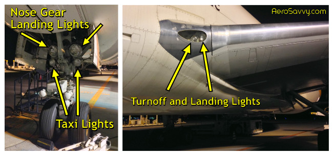 Taxi and Landing lights