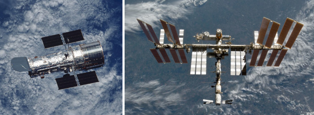 Hubble And ISS