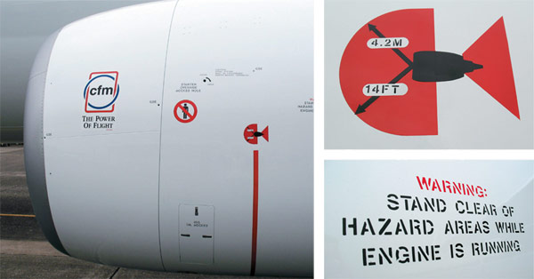 hazard-placards Aircraft Engine Spirals