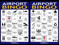 Airport Bingo Cards 1-2