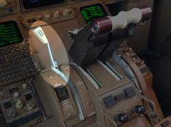 Speedbrake (spoiler) control on a 767