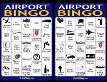 Airport Bingo Cards 3-4