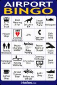 AeroSavvy Airport Bingo Card 1