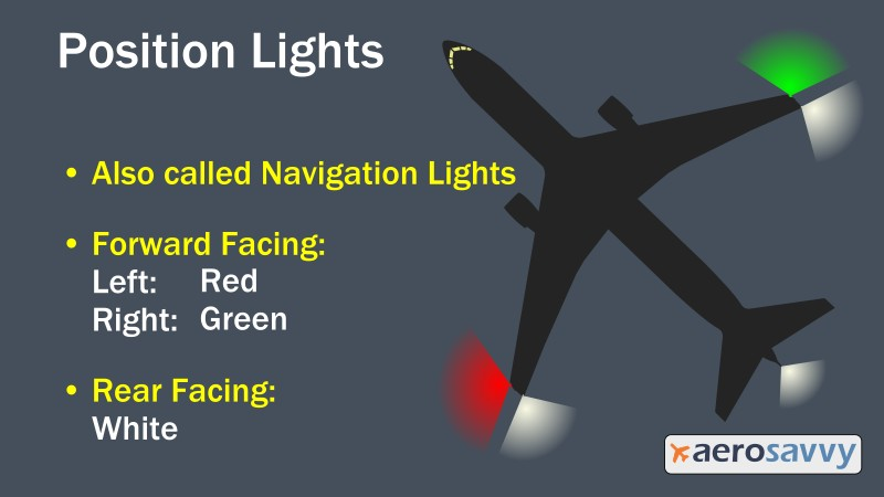 Position Lights - Savvy Passenger Guide to Airplane Lights- AeroSavvy