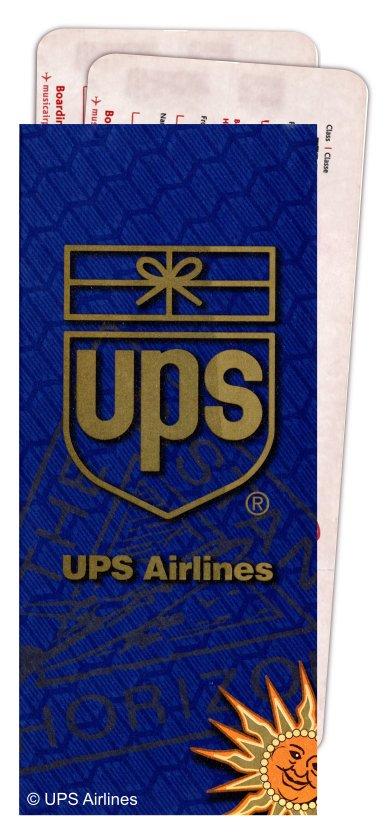 UPS Ticket Jacket - UPS Passenger Flights - AeroSavvy